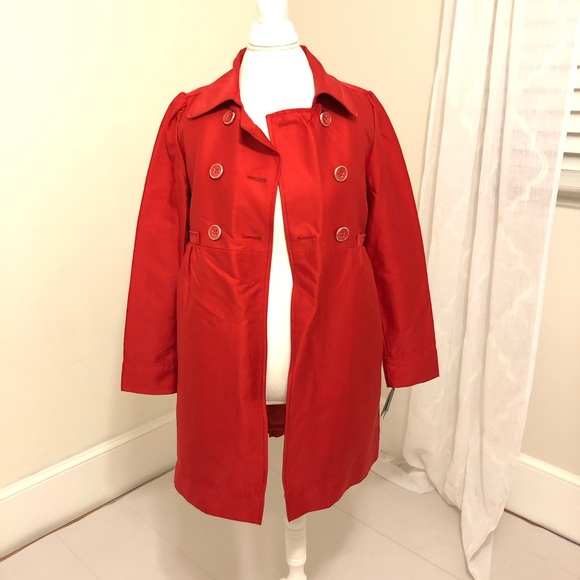 Kenneth Cole Reaction Jackets & Blazers - New Kenneth Cole Reaction Red Trench
